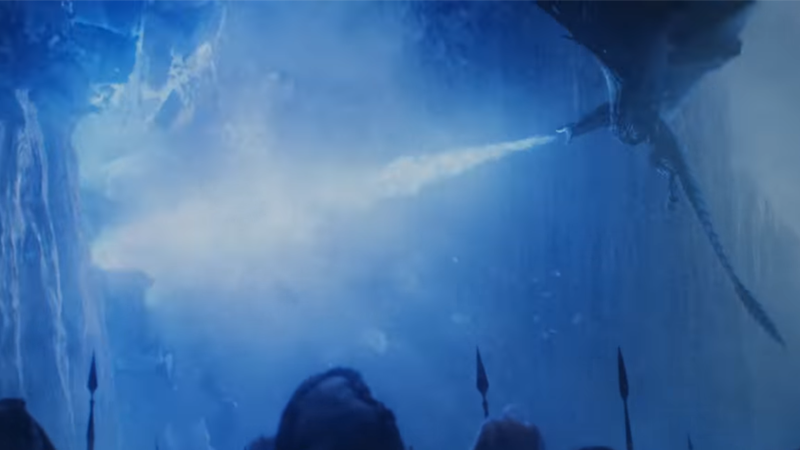 Viserion gets his drunken bar screech on in Game of Thrones.