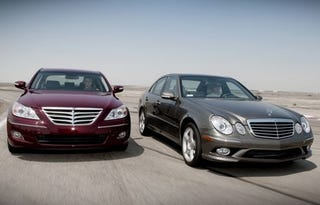 Illustration for article titled Motive Pits Hyundai Genesis Against Mercedes E-Class, Will Our Expectations Survive?