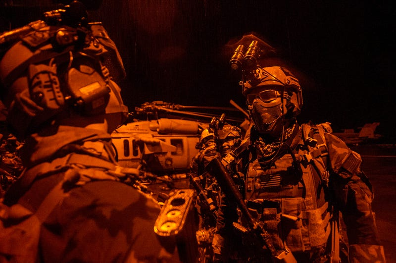 Illustration for article titled SEALs & MARSOC Units Conduct Training From The USS George Washington