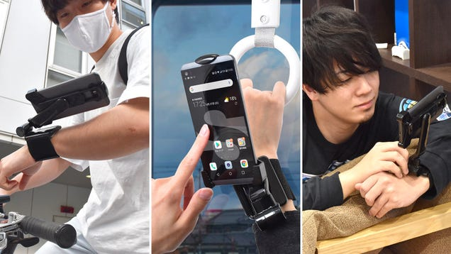 You Laugh, but This Smartphone Arm Mount Might Actually Be Useful