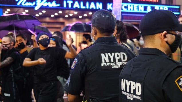 The Car That Hit Times Square Protesters Used to Be a Police Cruiser