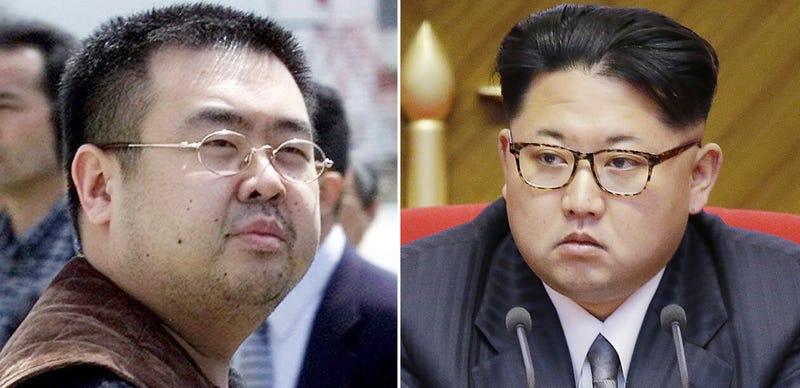 Kim Jong-nam y Kim Jong-un. AP