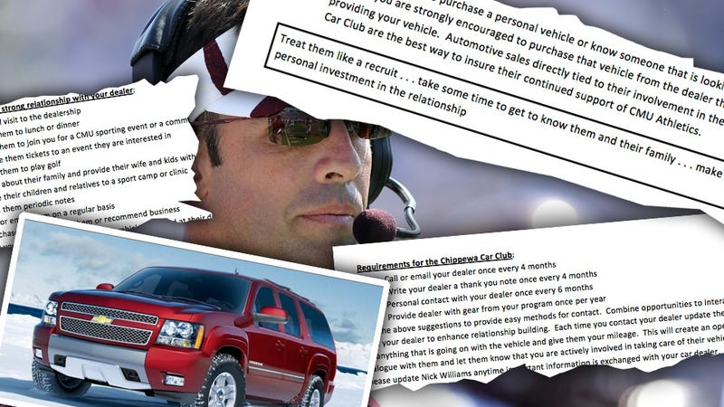 Illustration for article titled Why Are Free Cars OK For College Coaches But Not Players?