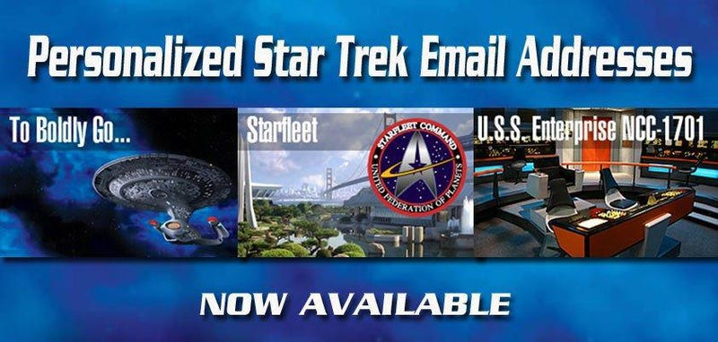 Illustration for article titled You can have a Star Trek Email Address now