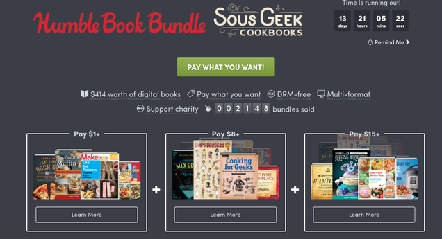 Humble Bundle Pinterest: Unleash Your Inner Nerdy Chef With This Humble Bundle Via