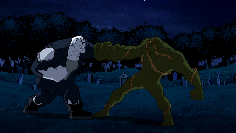Illustration for article titled This Week's Justice League Action Will Feature a Swamp Thing/Solomon Grundy Smackdown