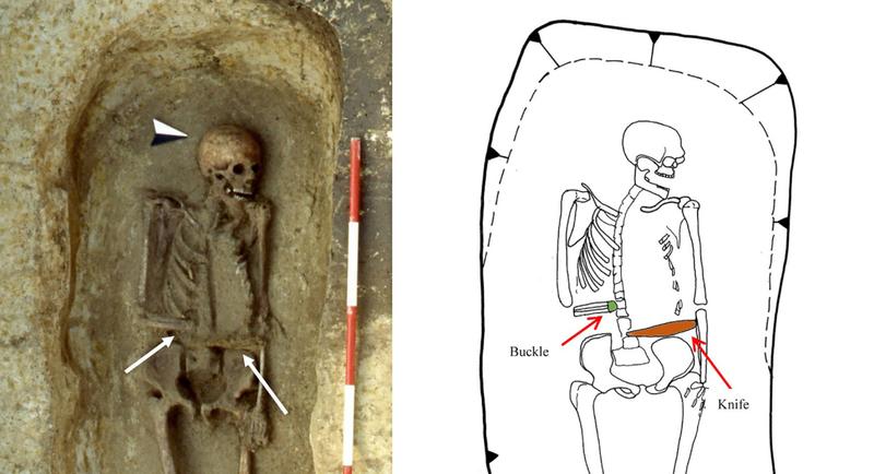 Illustration for article titled Este guerrero medieval con un cuchillo en lugar de mano es un fascinante rompecabezas arqueológico