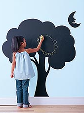 Make a Chalkboard Paint Wall Mural