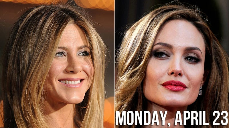Illustration for article titled Jennifer Aniston is Going to Beat Angelina Jolie to the Altar if it Kills Her