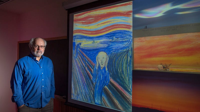 Alan Robock with an image of The Scream.