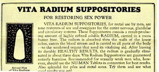 Illustration for article titled In the early 1900s, real men used radium suppositories