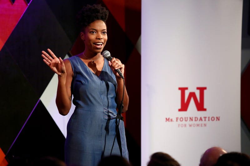 Comedian Sasheer Zamata performs onstage during Ms. Foundation for Women's 23rd Comedy Night at Carolines On Broadway on October 30, 2018 in New York City.