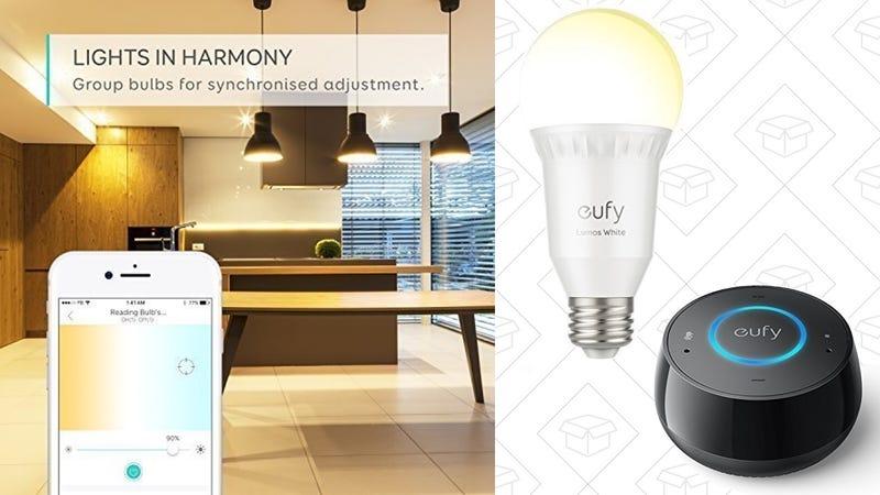 Eufy Lumos Tunable White Bulb, $25 | Eufy Lumos Soft White Bulb, $17 | Eufy Genie, $30 with code KINJA000