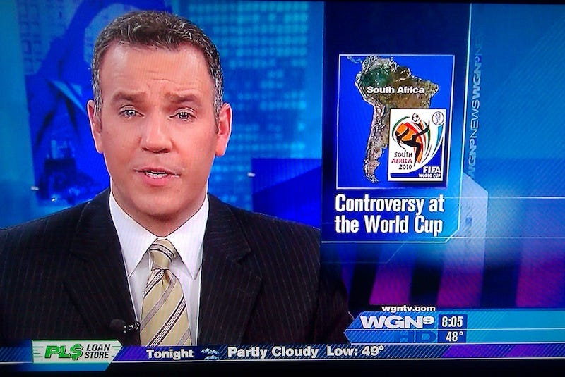 Illustration for article titled TV People Confuse World Cup Host Country With Similarly Named Landmass