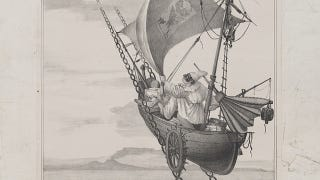 Illustration for article titled 300 Years of Imaginary Space Flight, From Geese to Anti-Gravity Ships