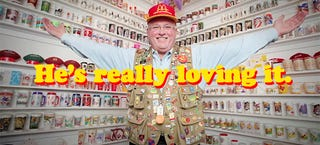 Illustration for article titled This guy collected 75,000 McDonald's items over 50 years