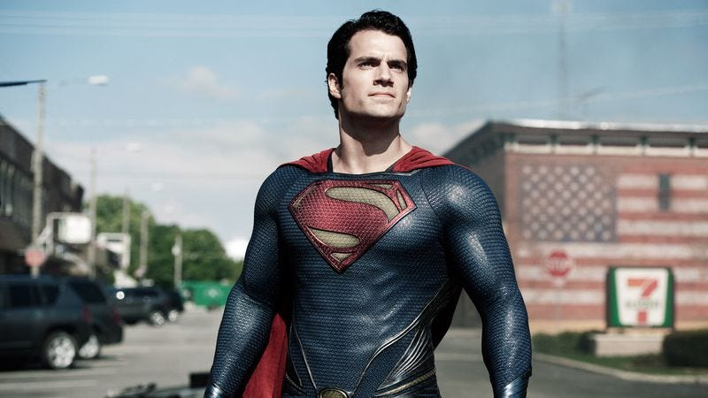 Henry Cavill as Superman, in Man Of Steel