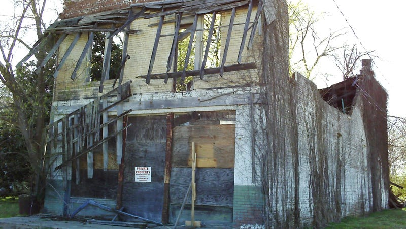 The remains of Bryant's Grocery and (Meat) Market, in Money, Miss.