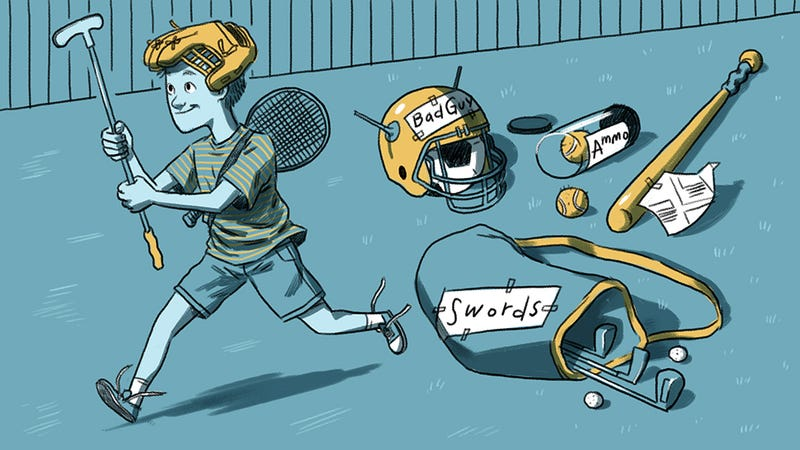 Illustration for article titled My Kid's Many Uses For Sports Equipment, Rarely Sports Related