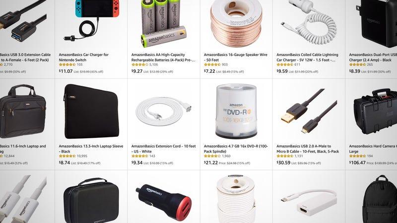 Rebajas tecnológicas de AmazonBasics | AmazonGráfico: Shep McAllister