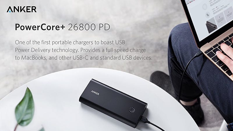 Anker PowerCore+ 26800 + Power Delivery Wall Charger | $80 | Amazon | Promo code ANKERPD3