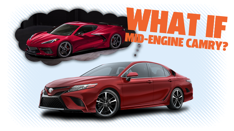 Illustration for article titled Forget the Mid-Engine Corvette; Bring on the Mid-Engine Camry