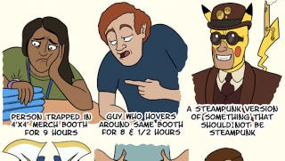 Illustration for article titled The 15 Types of People You'll See at Comic Con