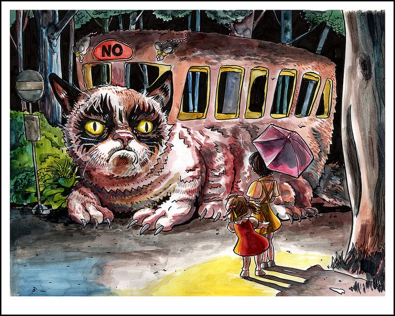 Illustration for article titled The Grumpy Catbus was helpful once. It was awful.