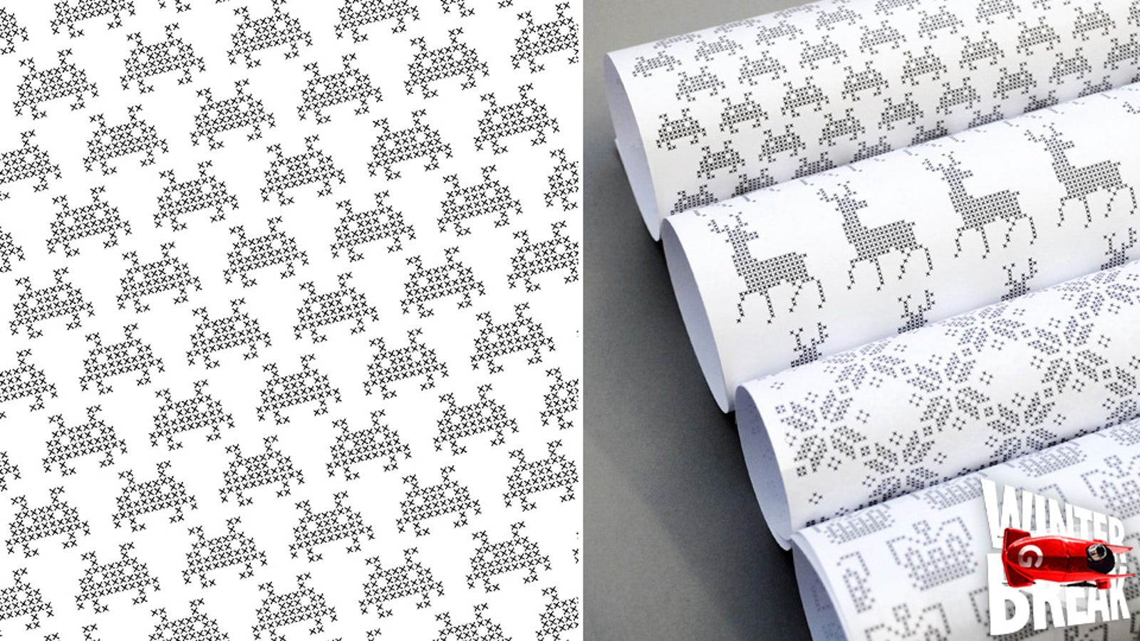 Download Some Free Pixelated Gift Wrap and Do the Holidays