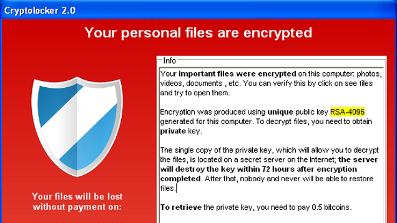 decryptolocker saves you from the popular cryptolocker ransomware
