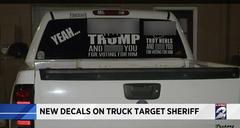 Woman with anti-Trump sticker on truck posts controversial change