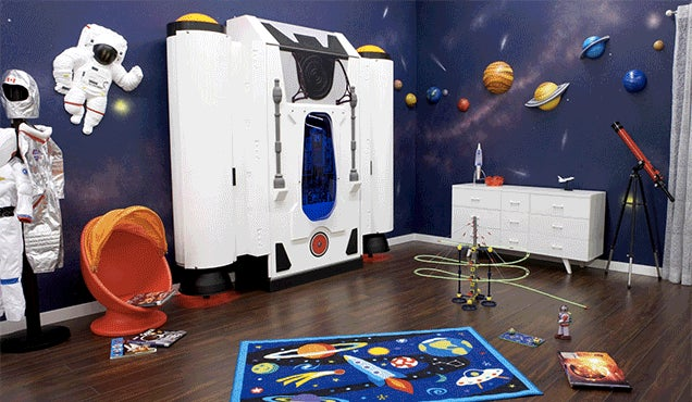 Someone incorrectly labeled this rocket ship bed as a kids for Childrens rocket bed