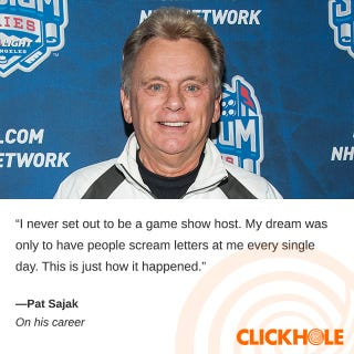Illustration for article titled Pat Sajak Said What?!