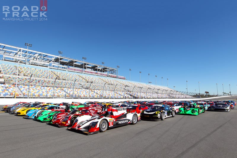Illustration for article titled Need Daytona 24 grid wallpaper? Have a couple!