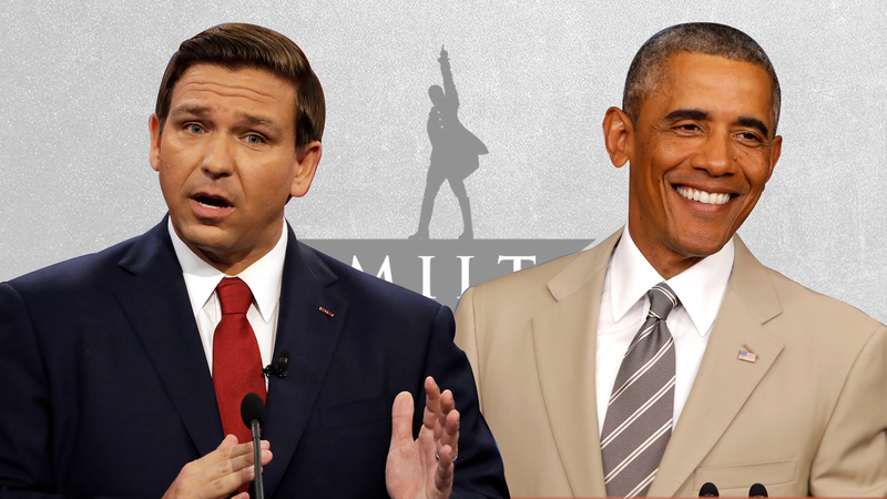 Illustration for article titled Andrew Gillum's Hamilton Tickets Are Barack Obama's Tan Suit