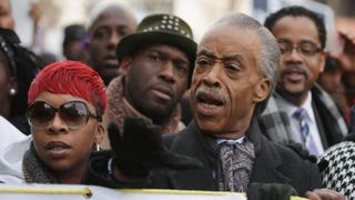 Lesley McSpadden, the mother of police shooting victim Michael Brown, and the Rev. Al Sharpton lead the Justice for All march through the nation's capital Dec. 13, 2014, in Washington, D.C.Chip Somodevilla/Getty Images