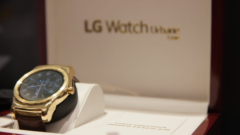 Illustration for article titled LG's Watch Urbane Luxe Is 23-Karat Gold Bonkers