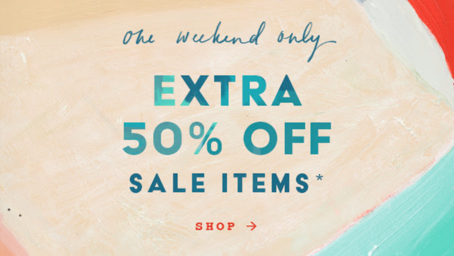 Anthropologie s Extra 50% Off Weekend Sale Starts Now