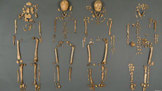 Researchers this week announced the recovery and identification of four sets of human remains belonging to leaders of colonial Jamestown. Among the items recovered from the graves was a sealed silver box, revealed by X-ray to contain bone fragments, and two pieces of a lead ampulla.