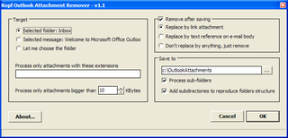 Illustration for article titled Outlook Attachment Remover Frees Up Inbox Disk Space