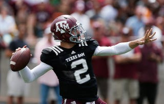 Illustration for article titled Texas A&M Won't Talk About Johnny Manziel This Week