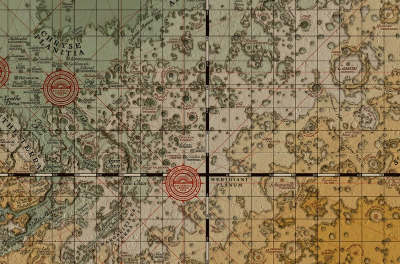 Illustration for article titled What Mars Would Look Like Mapped by Medieval Cartographers