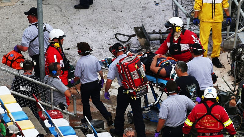 Illustration for article titled NASCAR Will Look At Safety Fences As Two Fans Remain Hospitalized After Daytona Crash