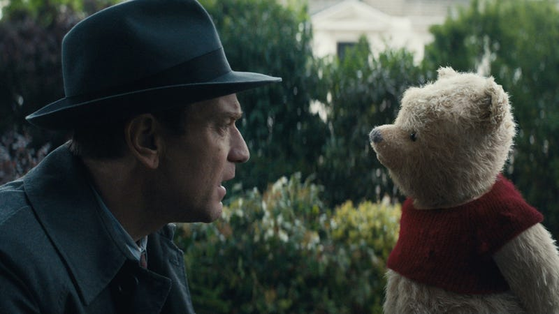 Think Hook, but with Winnie the Pooh. An older Christopher Robin (Ewan McGregor) reconnects with his childhood friend.