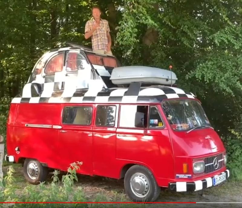 Illustration for article titled My distant cousin's Mercedes/2CV custom van