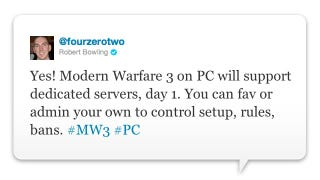 Illustration for article titled Modern Warfare 3 Gets Dedicated Servers on PC (That's a Great Thing for Competitive Play)