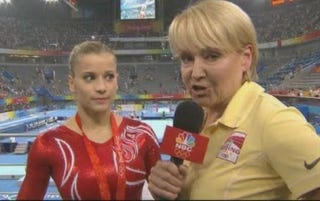 Illustration for article titled Andrea Joyce Makes Tiny Gymnast Cry; Enjoys It