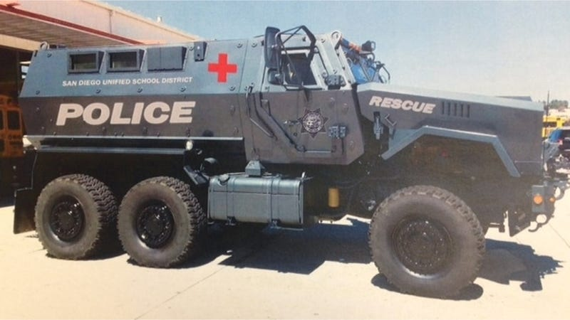 Illustration for article titled A School District Bought An 18-Ton MRAP Because The World Is Insane