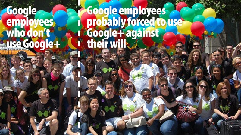 Illustration for article titled One Third of Google Employees Don't Seem to Use Google+
