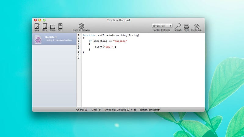 Illustration for article titled Tincta Is a Free, Fully-Featured Programming Text Editor